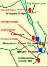 Location map of Local Mount Beauty wineries